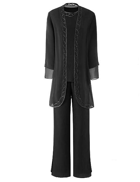 Amazon.com: Trajes de chifón para mujer, talla grande, 3 ...