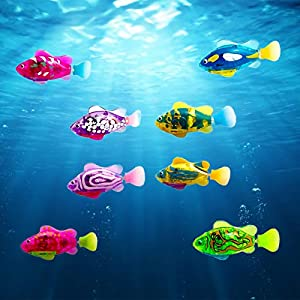 4 Pcs Swimming Robot Fish Bath Toy Mini Robotic Fish Toy Electric Fish in Water for Kids