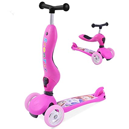 Plegable Patinete 3 Ruedas 3 en 1 Scooter Super Ancho para ...