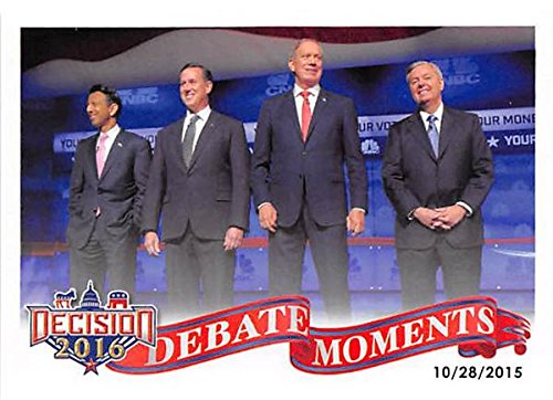 Lindsey Grahm Bobby Jindahl Rick Santorum George Pataki trading card 2016 Presidential Election #69 Debate
