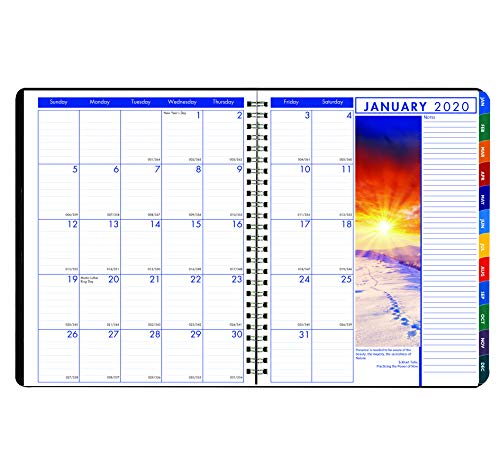 House of Doolittle 2020 Weekly and Monthly Planner Calendar, Earthscapes, Tabbed, Black, 8.5 x 11 Inches, January - December (HOD27302-20)