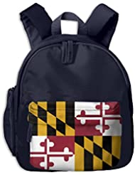 US State Maryland Kids School Shoulders Bag Side Pocket Lunch Backpack