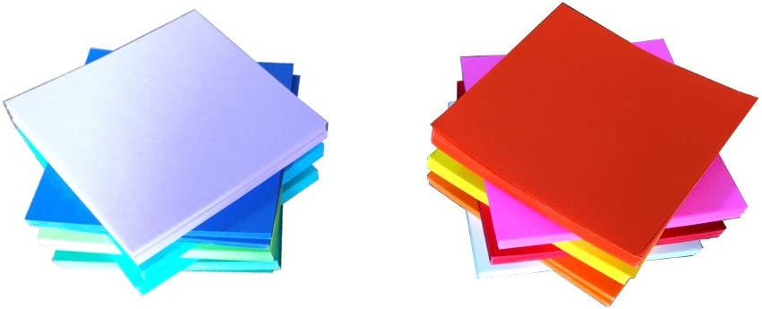 7 by 7 cm, or about 2 3//4 inches by 2 3//4 inches 2 3//4 inches square 1000 sheets by North American Origami Paper