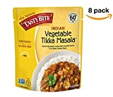 Tasty Bite Vegetable Tikka Masala 10 Ounce (Pack of 8), Fully Cooked Indian