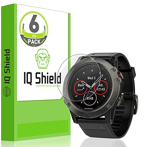 Price comparison product image Garmin Fenix 5x Screen Protector (6-Pack), IQ Shield LiQuidSkin Full Coverage Screen Protector for Garmin Fenix 5x HD Clear Anti-Bubble Film
