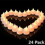 Tea light Candles Flat, Pack of 24