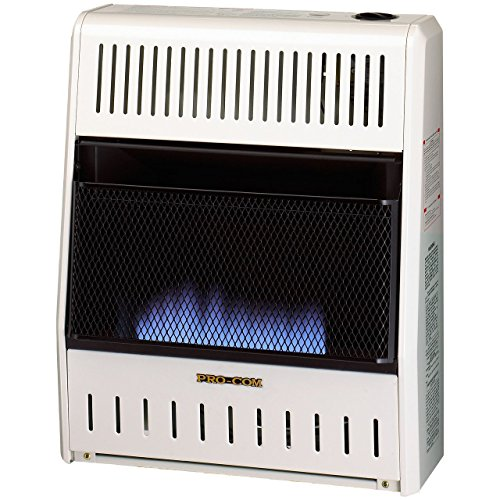 Procom MN200HBA Vent Free Natural Gas Blue Flame Space Heater – 20,000 BTU, Manual Control