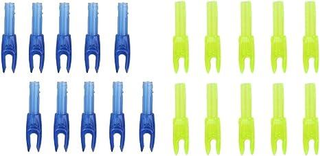 20pcs Plastic Archery Nock Arrow Shaft End Accessories G size Blue Yellow