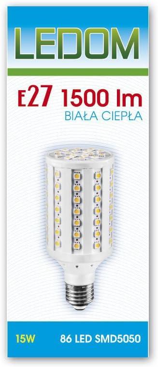 E27 Led E27 Led Lampe E27 E27 15w Kaltweiss 1500 Lumen 86 5050 Leds 230v Ledom Amazon De Beleuchtung