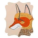 Deny Designs  Mummysam, Mr.Fox, Quatrefoil Clock, Medium