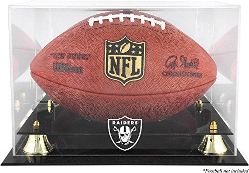 Raiders Logo Display Case - Mounted Memories Oakland Raiders Team Logo Football Display Case
