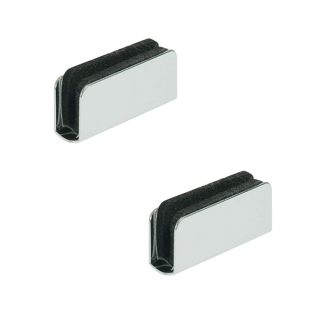 Magnet-Schn/äpper schwarz zum Schrauben Gedotec Magnet-Druckverschluss f/ür 1-fl/ügelige Glast/üren T/ür-Schn/äpper Haftkraft 1,8 kg 2 St/ück