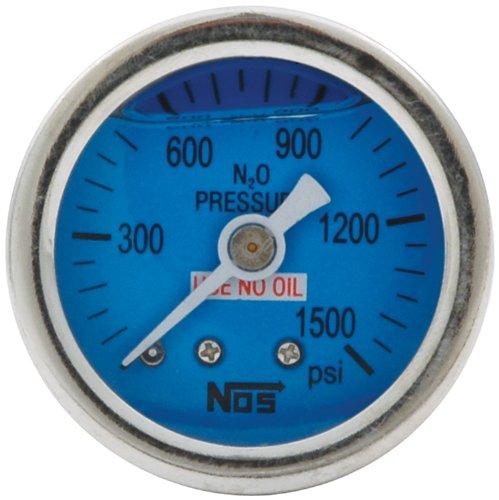 Allstar Performance ALL80208 0-1500PSI NOS Glycerine Filled Shockproof Pressure Gauge ()