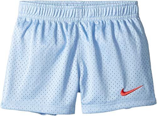 (Nike Kids Girl's Classic Mesh Shorts (Little Kids) Aluminum 6)