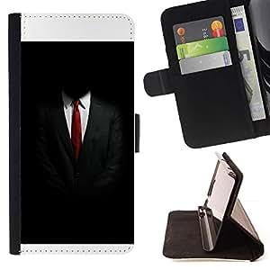 Momo Phone Case / Flip Funda de Cuero Case Cover - Traje de negocios Tie White Collar Negro - Sony Xperia Z3 Compact