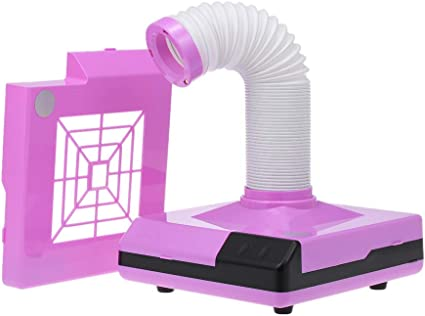 Anself 60W Aspiradores Profesional de Polvo de Uñas, Aspirador de manicure Polvo colector de succión para Uñas Manicura Ideal para esteticistas (Purple): Amazon.es: Belleza