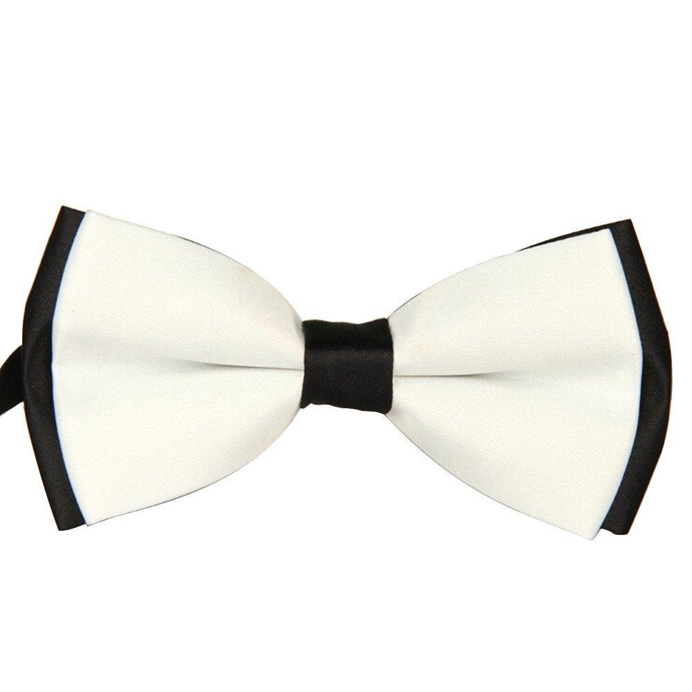 Men's Plain Bowtie High End Polyester Pre Tied Wedding Tuxedo Bow Tie (G)