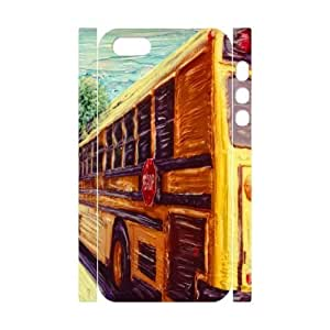custom iphone5,iphone5s 3D case, yellow school bus 3D hard back case for iphone5,iphone5s at Jipic (style 3)