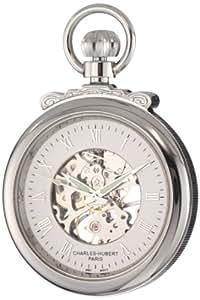 Charles-Hubert, Paris 3903-W Classic Collection Open Face Mechanical Pocket Watch