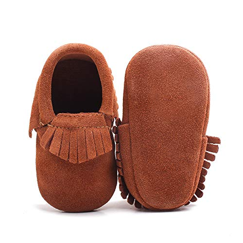 Delebao Unisex Baby Soft Sole Tassels Crib Shoes Moccasins Loafers