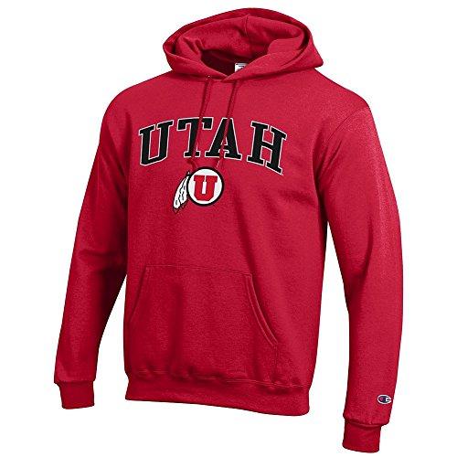 (Elite Fan Shop Utah Utes Hooded Sweatshirt Varsity Red - L)