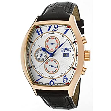 Amazon.com: Invicta Mens 14331 Specialty Tonneau Watch with 3 Textured Leather Strap Set: Invicta: Watches