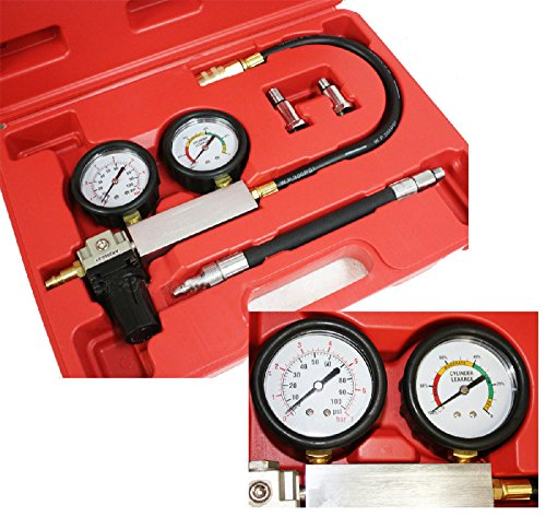 Cylinder Leakdown Tester Dual Gauge Diagnostic Kit for Imports Domestic ()