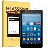 SPARIN 2017 All-New Fire HD 8 Screen Protector, [Tempered Glass] [HD Clear] Screen Protector Fire HD 8 (2017/2016/2015 Release) & All-New Fire HD 8 Kids Edition Tablet