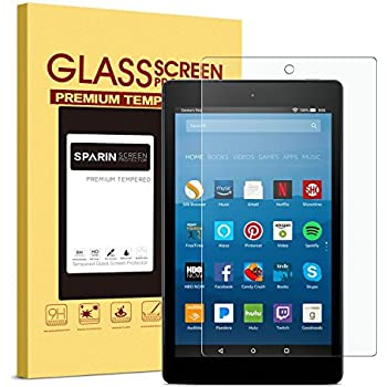 Amazon com: [2-Pack] OMOTON Screen Protector for All-New Fire HD 8