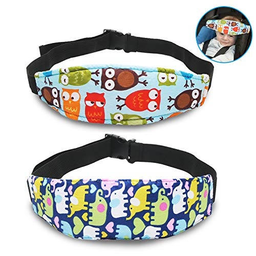 Baby Carseat Head Support,Car seat Straps Pillow Support Ban,Stroller Neck Relief Strap Headrest,Slumber Sling Sleep Positioner for Toddler Infants Child Children Kids