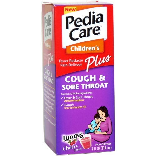 Pediacare 4 oz Sore Throat/cough (Pack of 6)