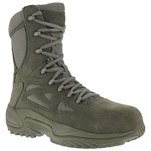 Reebok Work Men's Rapid Response RB8990 Work Boot,Sage Green,6 M US