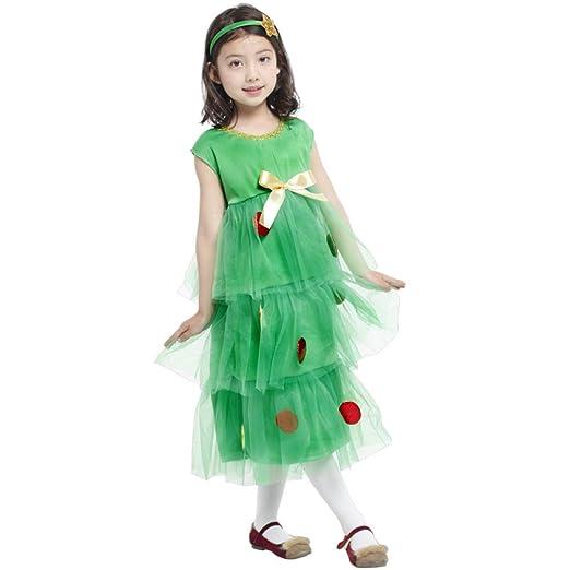 GHCX Disfraz De Navidad para Niños Árbol De Navidad Niñas Princesa ...