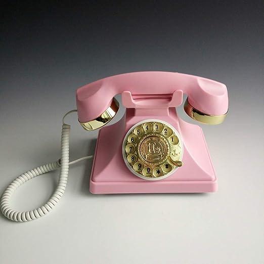 ASDFNF Teléfono Fijo, Teléfono Teléfono Antiguo Fijo Teléfono ...
