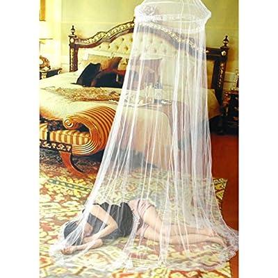 Xinhuaya Elegant Lace Bed Canopy Mosquito Net Screen Netting Circular Curtain