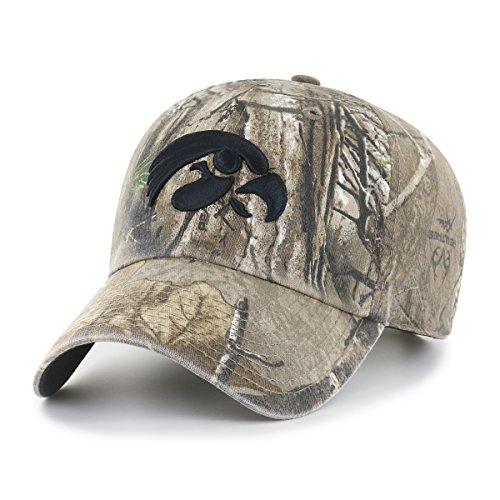 NCAA Iowa Hawkeyes Realtree OTS Challenger Adjustable Hat, Realtree Camo, One Size (Iowa Camo Hawkeyes)