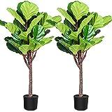 Fopamtri Artificial Fiddle Leaf Fig Tree 3.6 Feet