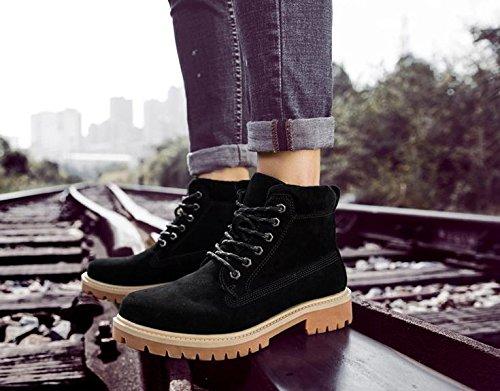 37 Zapatos R Botas Contrato De De Hombres Sert Aire Calientes De D Herramientas S Invierno Cuero Tro Negro De Libre D Imitación nX8x1qwFT