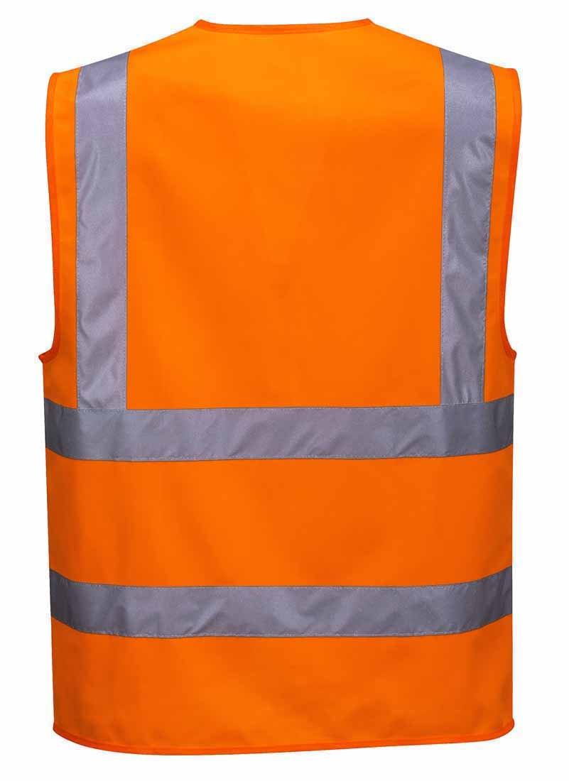 Portwest C375ORRXXL Hi-Vis Zipped Vest 2X-Large Orange