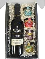 Cesta Gourmet Deliex con Vino Rioja Antaño de 37