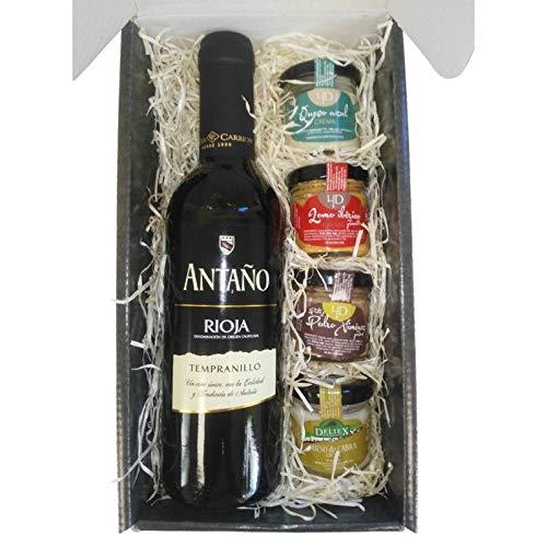 51zBFhsZ%2BNL. SS500 Productos gourmet Extremadura Se presenta en caja de cartón negra, con una frase a ambos lados del estuche (ojo, frase no personalizable) vino tinto de 37.5 cl (Cristal)
