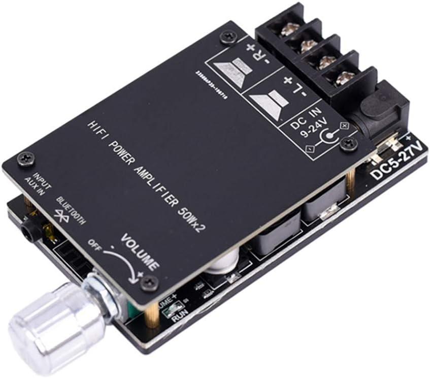 Fxhan HiFi 2.0 Stereo Bluetooth Digital Power Amplifier Board TPA3116 50WX2 Audio Amp Module