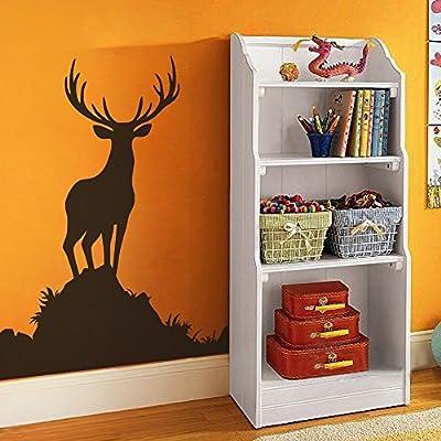 Buck Wall Decal Animal Wall Sticker Vinyl Deer Wall Decal Wildlife Hunting Decor Men's Room Art Decoration