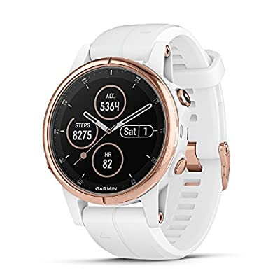 Garmin f?nix 5S Plus - Compact Multisport Watch with Music, maps, and Garmin Pay