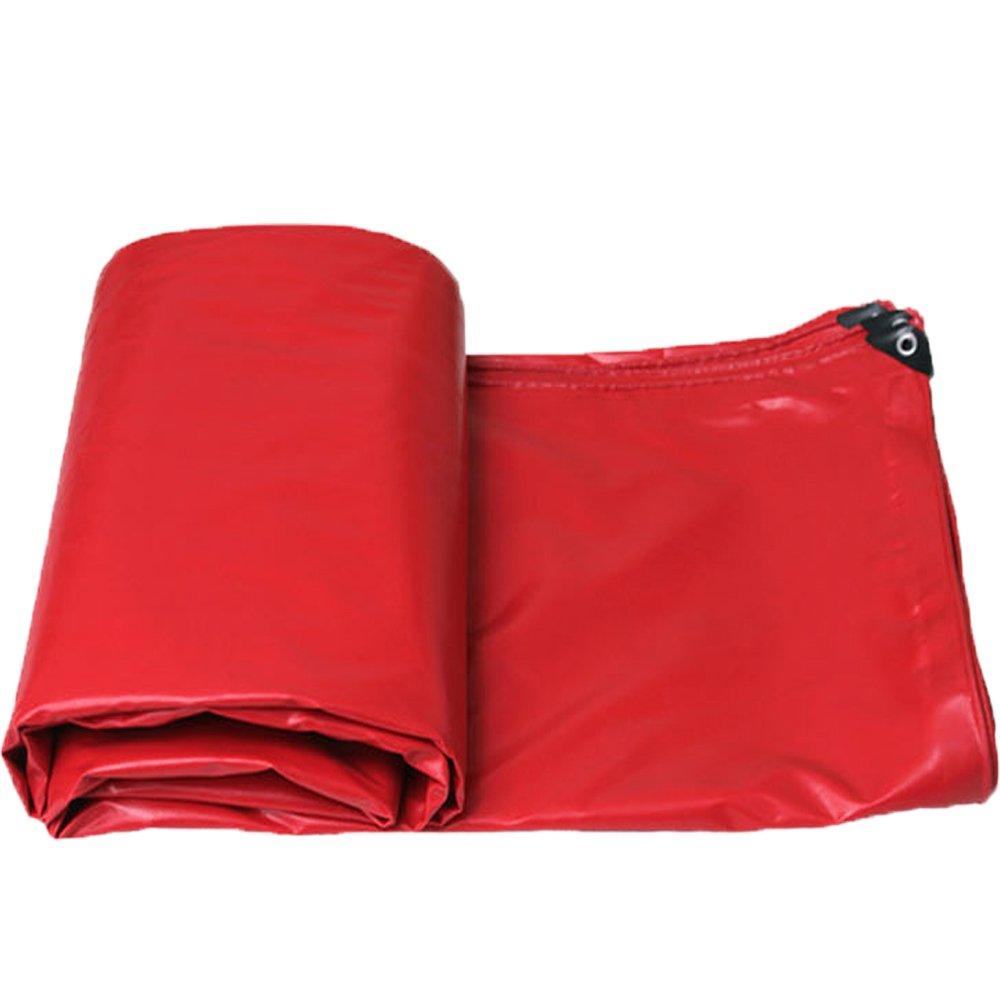 QX pengbu IAIZI Starke Plane doppelseitiges wasserdichtes Lager-Dach-Abdeckungs-Tuch (Farbe   rot, größe   4.85  3.85m)
