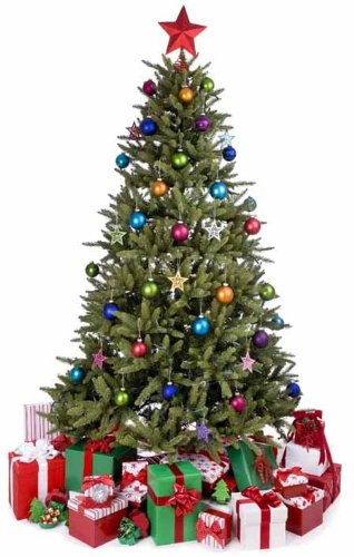 Christmas Tree - Christmas Lifesize Cardboard Cutout / Standee / Standup by Starstills UK - Party Cardboard Cutouts