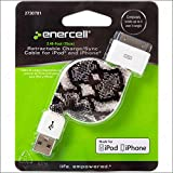 Enercell Snake USB Retractable Sync/Charge 2.46 Feet Data Cable USB Charger For 30-Pin iPad 2 3 iPhone 3G 3GS 4 4S iPod Touch Classic Video Nano