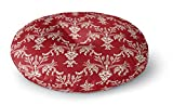 KAVKA DESIGNS Christmas In Plaid Red Floor Pillow, (Red/Ivory) - TRADITIONS Collection, Size: 26x26x8 - (TELAVC1034FPR26)