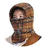 Sports Outdoors Kids Best Deals - Children's Winter Windproof Cap Thick Warm Face Cover Cycling Skiing Hat Balaclava Outdoor Sports Mask (Khaki2)
