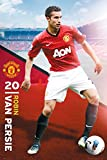 England Manchester United Robin Van Persie Pose (2012-2013 Season) English Football Soccer Player Sports Fan Poster Print 24x36